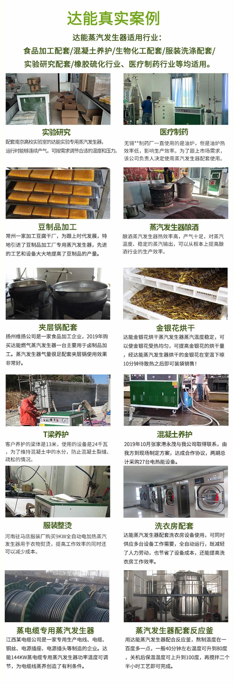 达能蒸汽发生器应用案例